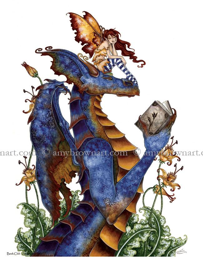 Book Club Dragon by Amy Brown   Writing Dragons