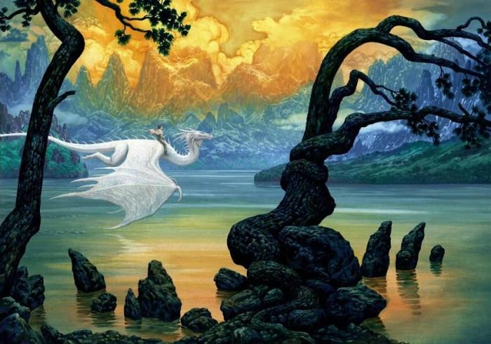 Ciruelo Cabral - Sunset Dragon~2