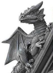 Gothic Castle Dragons Sculptural Bookends at Design Toscano (detail 2)