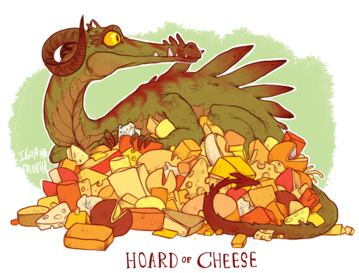 Hoard of Cheese by Iguana Mouth