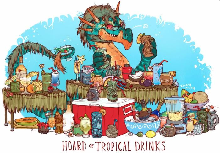 Hoard of Tropical Drinks by Iguana Mouth