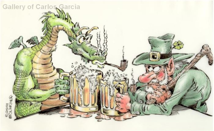Irish Drinking Dragon by Bruce Bolinger