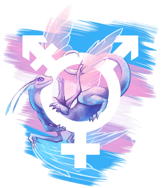 Trans Pride Dragon