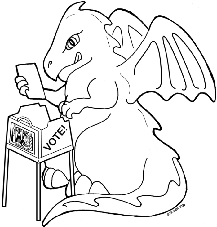Voting Dragon by bigblued