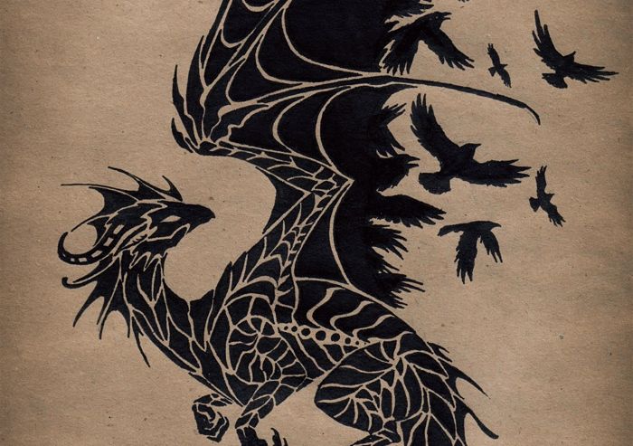black_raven_dragon_by_alviaalcedo (detail)