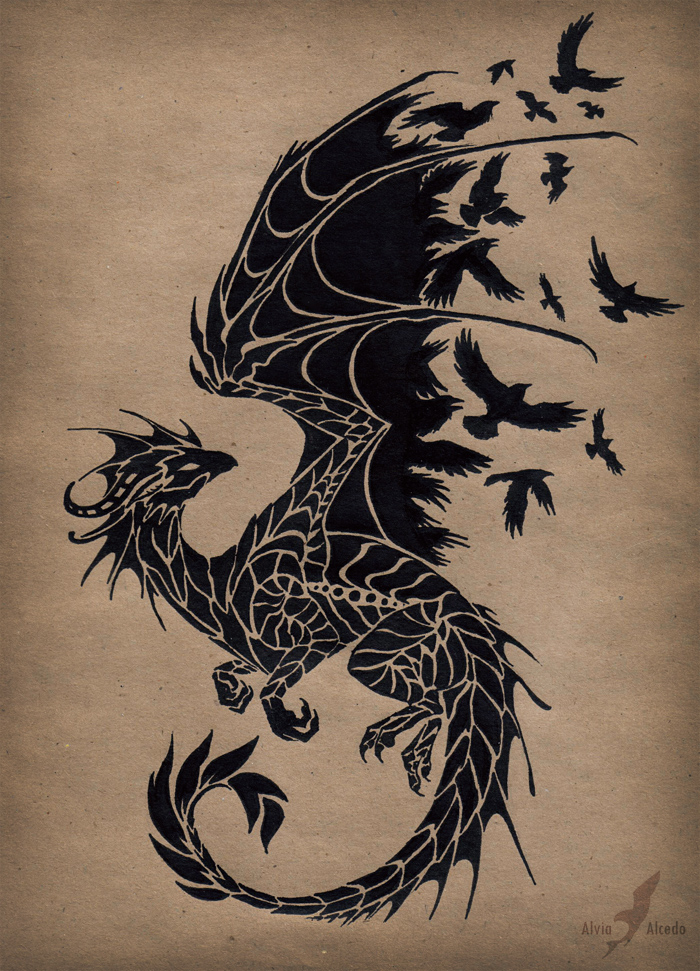 black_raven_dragon_by_alviaalcedo