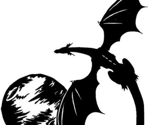 tattoo_of_flying_black_dragon_and_the_moon (detail)
