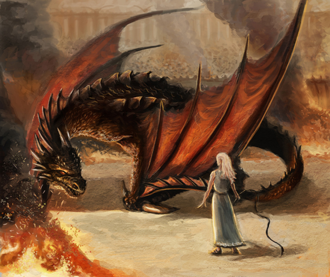Daenerys_and_Drogon_by_afternoon63