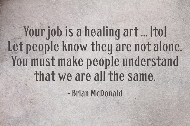 Healing Art Quote, Brian McDonald