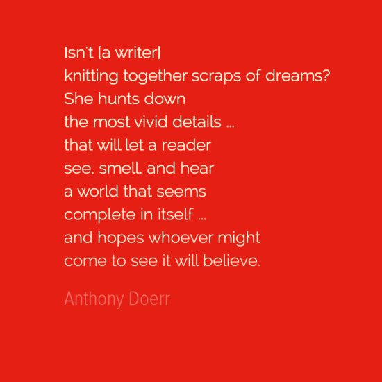 Anthony Doerr Quote