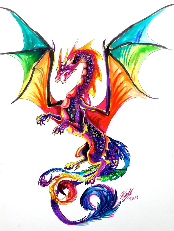 rainbow_dragon_tattoo_by_lucky978-d5vurm6