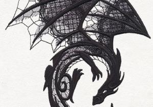 Dark Creatures - Dragon by Urban Threads (detail)