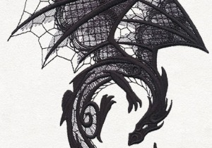 Dark Creatures - Dragon by Urban Threads (detail)