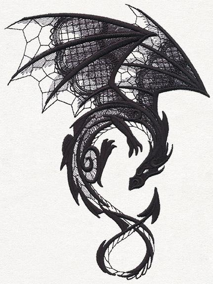 Dark Creatures - Dragon by Urban Threads