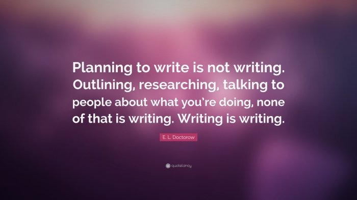 EL Doctorow Quote - Planning