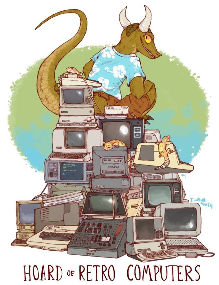 Hoard of Retro Computers by IguanaMouth