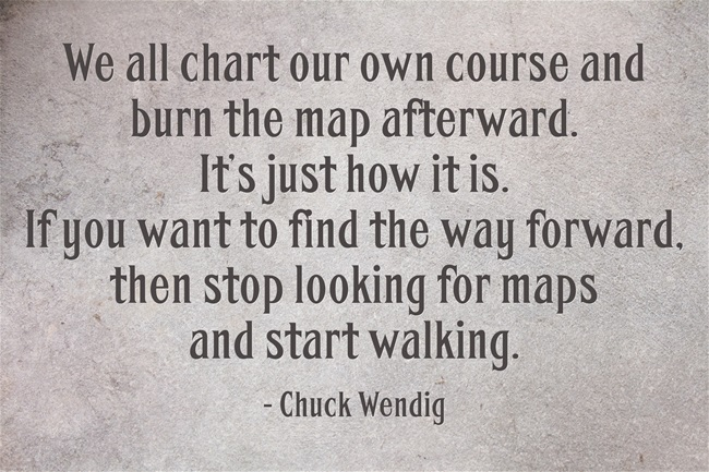 Chuck Wendig Quote - Burn the Map