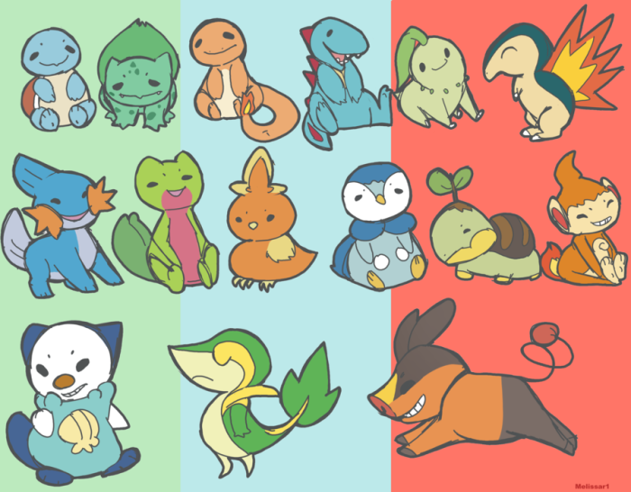 pokemon_starters_by_melissar1-d4az0e0