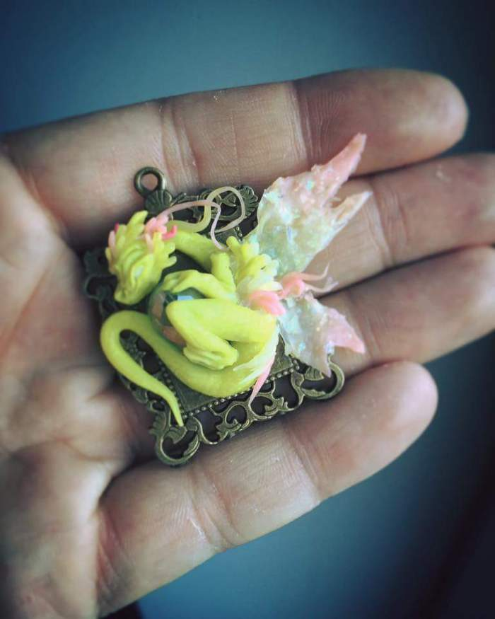 Summer Fairy Dragon Pendant by Umberto M