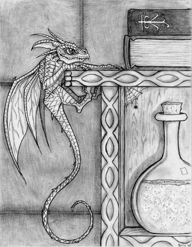 faery_dragon_climbing_a_shelf_by_abydell