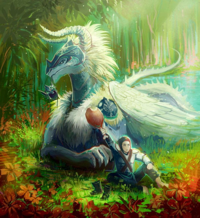 dragon_and_the_rider_by_meoon