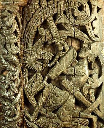 Sigurd Portal - Sigurd Killing Fafnir - D.L. Ashliman
