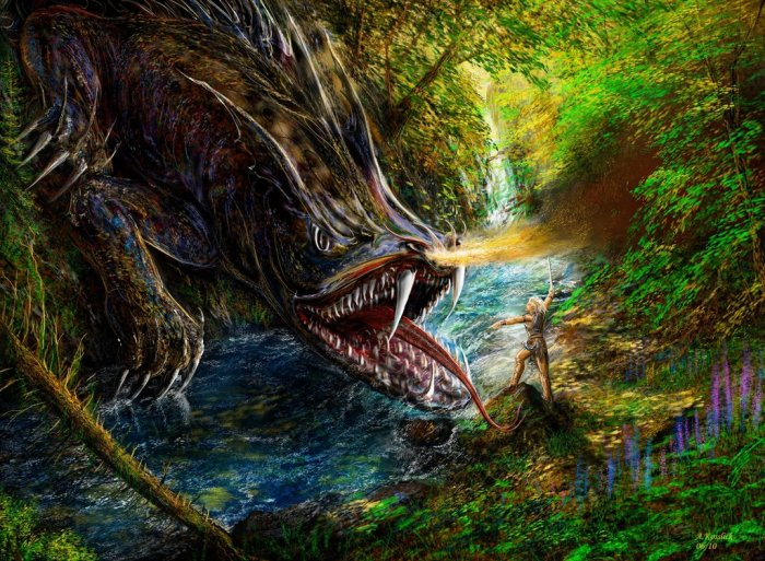 sigurds_fight_with_fafnir_by_andrekosslick
