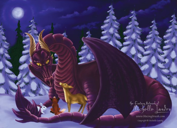 Dragon of Winter Solstice by Dragon-by-Design