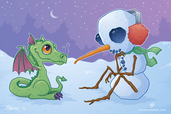 the_snowman_and_the_dragon_by_fizzgig