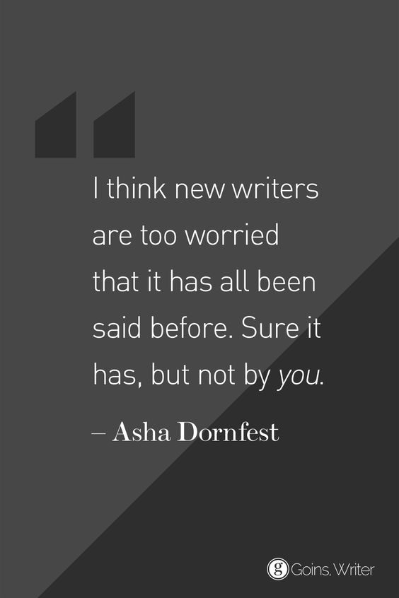Asha Dornfest Quote - Not by you