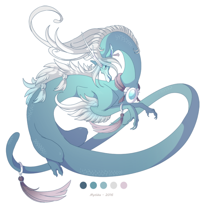 Dragon-a-Day 89 Aquamarine by Mythka
