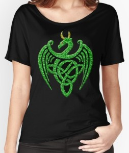 Faux Green Glitter Dragon shirt by Atteestude