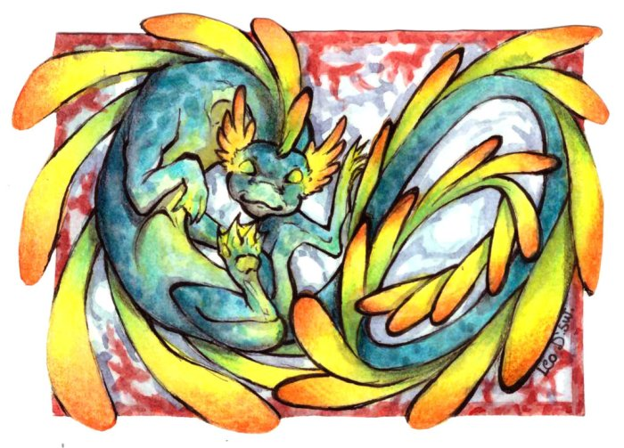aceo_trade___water_dragon_by_leodragonsworks