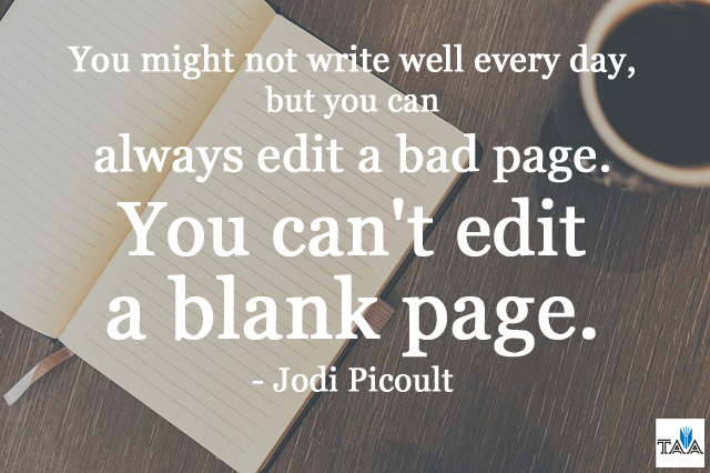 Jodi Picoult Quote Can't edit a blank page