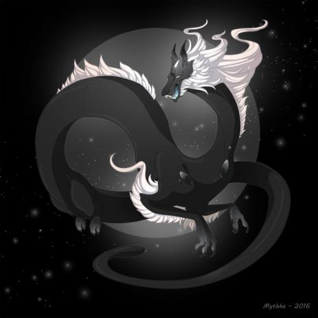 Dragon-a-Day 121 (Black) Pearl by Mythka