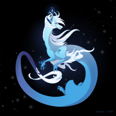 Dragon-a-Day 134 Moonstone by Mythka
