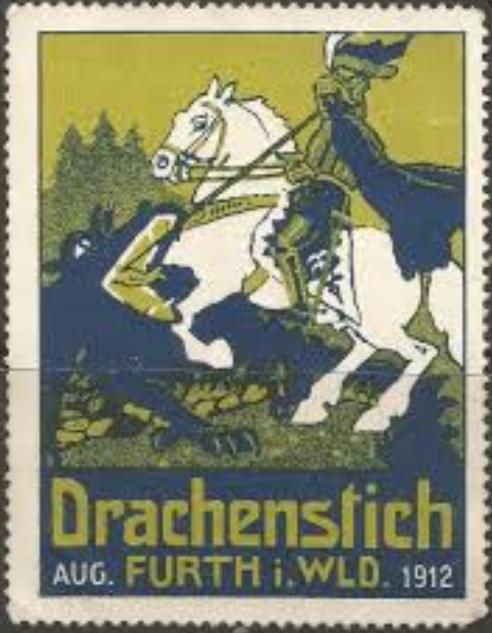 1912 Drachenstich Furth im Wuld Postage Stamp