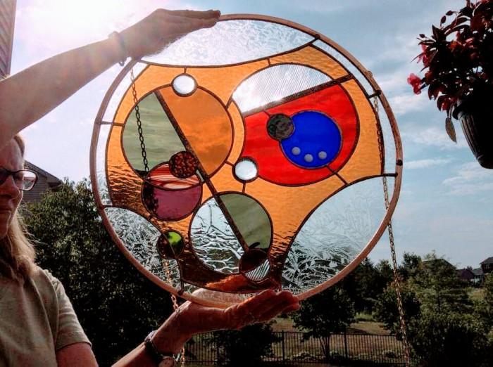Kitsune Art Glass Gallifrey I Love You 01