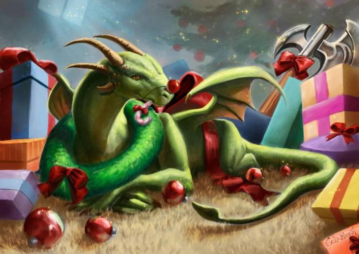 Christmas Dragon.Christmas Dragons By Various Artists Writing Dragons