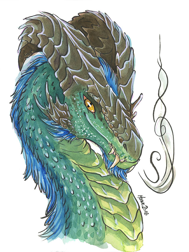 Emerald dragon by ManueC