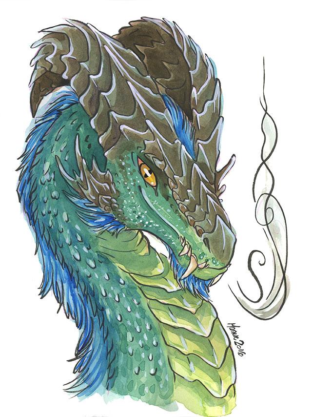 Emerald dragon byManueC