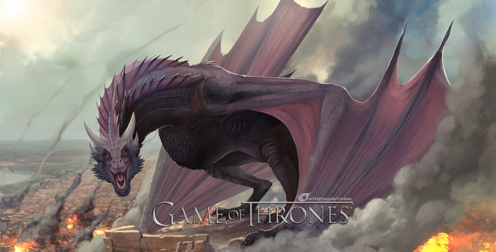 game_of_thrones___dragon_drogon_by_irenbee