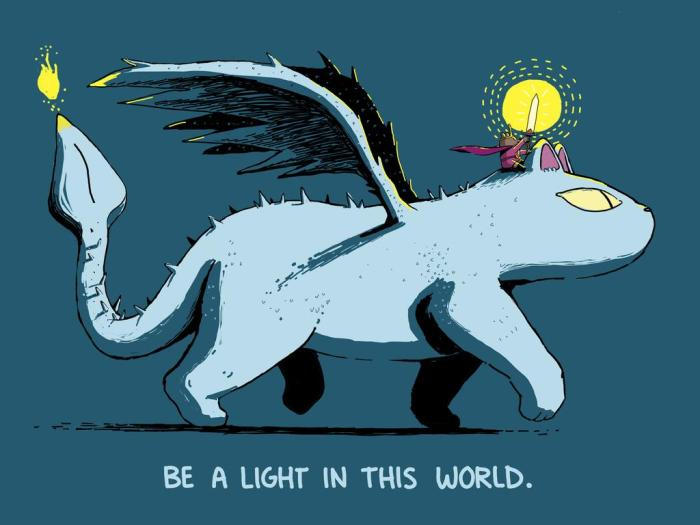 be_a_light_feat__cat_dragon_and_hero_princess